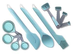 Amazon Com 11 Pc Silicone Baking Utensil Set Blue