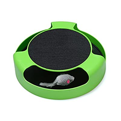 Toys for cats FYNIGO Cat Interactive Toys with a Running Mice and a Scratching... [tag]