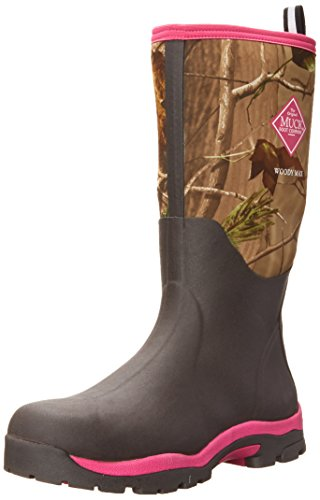 Muck Boot Womens Woody Pk Hunting Shoes, Bark/Realtree/Hot Pink, 6 US/6-6.5 M US by Muck Boot
