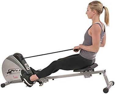 Sunny Health & sf-rw5606Cuerda elástica máquina de Remo de Fitness 8