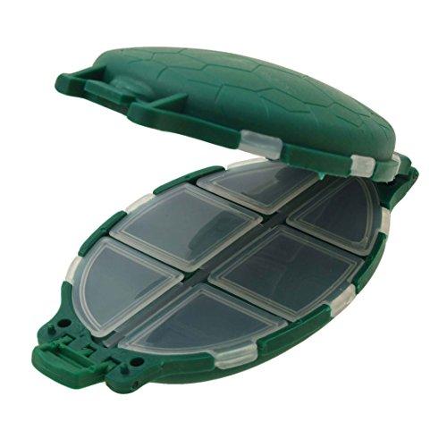 Uxcell plastic portable turtle shaped fisher fishing for Fishing hooks walmart