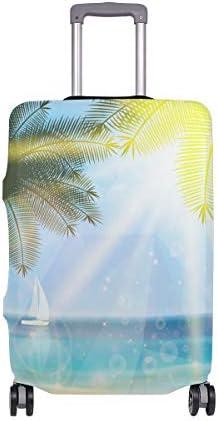 (ソレソレ)スーツケースカバー 防水 伸縮素材 キャリーカバー ラゲッジカバー ハワイ 砂浜 自然風景 かわいい 可愛い 可愛い おしゃれ 防塵 旅行 出張 便利 S M L XLサイズ
