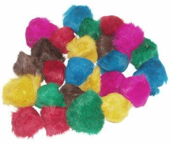 24 Assorted Bat Around Fur Balls (2-2.5 inches each) – Cat Toys, My Pet Supplies