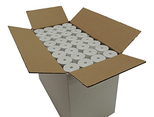 Thermal Paper 2-1/4'' x 75' rolls 1.5'' diameter, CORELESS, BPA Free, 128 rolls by Western Diazo