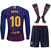 Season 18/19 Barcelona #10 Messi Home Kids/Youth Long...