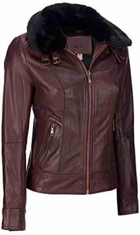 Koza Leathers Womens Lambskin Leather Biker Jacket KN409