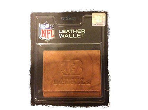NFL Cincinnati Bengals Leather Trifold Wallet with Man Made -