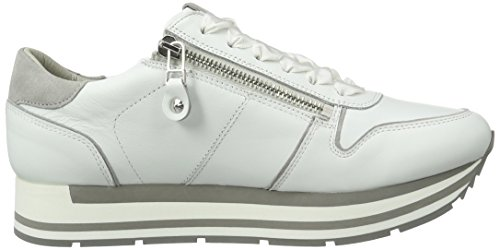 Schmenger Sohle Schuhmanufaktur Rock Bianco weiss Sneakers Kennel und Weiß Low Women's Top Light Grau F5wAnSqP