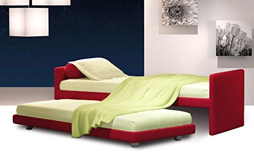 Bett Duplo A Schloss kann auf Größe Single oder Bett