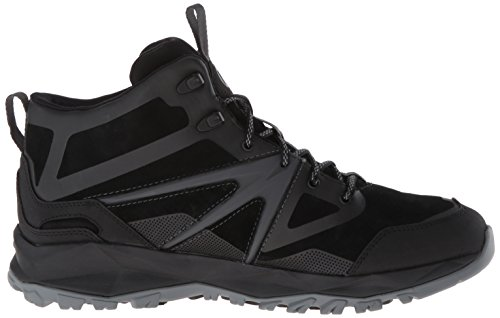 Merrell Hombres de mediana Capra Perno de cuero bota impermeable Negro