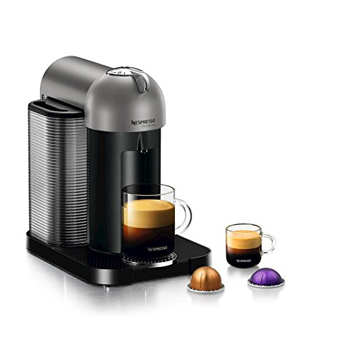 Nespresso GCA1-US-TI-NE Vertuoline Coffee and Espresso Maker, Titan Grey