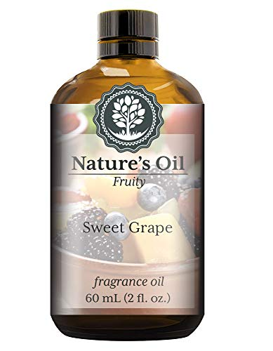 Sweet Grape Fragrance Oil (60ml) For Diffusers, Soap Making, Candles, Lotion, Home Scents, Linen Spray, Bath Bombs, - Oil Grape Fragrance