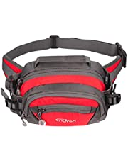 ENGYEN Waist Bag,Fanny Pack,Waist Pack,Adjustable Strap,Adjustable Water Bottle Holder,Outdoor,Sports,Jogging,Walking,Hiking,Cycling,Carrying iPhone 7 8 Plus X,Men,Women