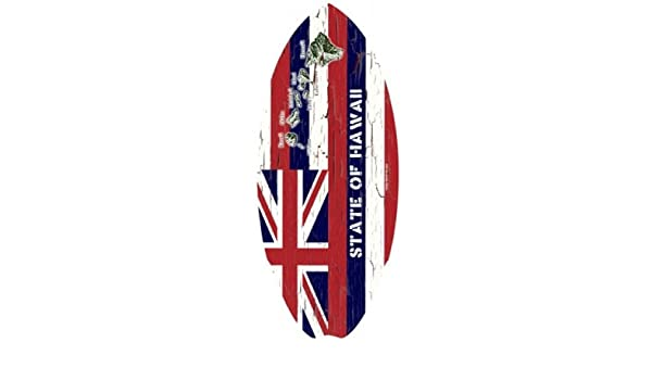Hawaiian Madera Mini Tabla de Surf Hawaii Estado Bandera 20 cm, de 8,5 Pulgadas: Amazon.es: Hogar