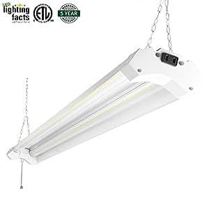 Hykolity 5000k Led Shop Light Linkable 4ft Daylight 42w