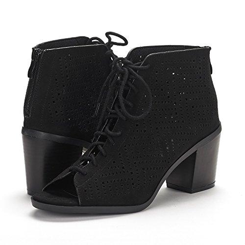 Pump Route black Egypt Sandals Womens PAIRS DREAM Heel Mid wqXZxHH
