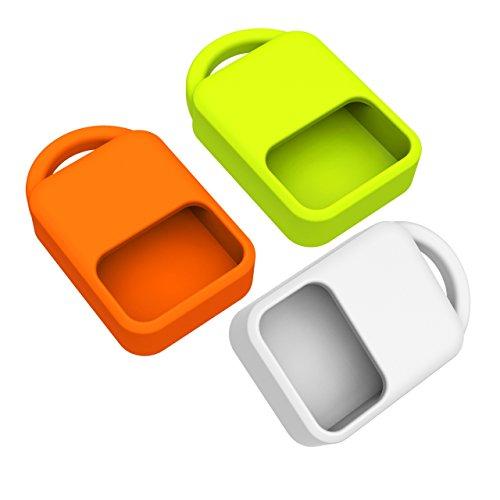 Case for Dash Micro Mini MicroSD Reader, pack of 3: White/Orange/Green