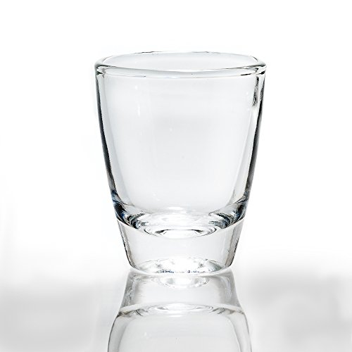 Rompak LLC 1 oz Vodka Shot Glass Bulk Set of 24 Glasses- Heavy Bottom Base, Crystal-Clear - Elegant and Durable - Perfect for Tequila, Vodka, Whiskey, Rum, or Other Liquors/Spirits]()