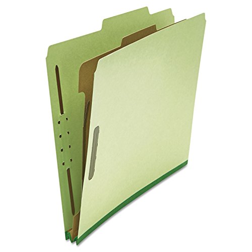Universal 10251 Pressboard Classification Folder, Letter, Four-Section, Green (Box of 10) ()