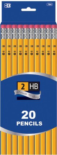 #2 Yellow Pencil - 20/Pack 72 pcs sku# 1757825MA by DDI