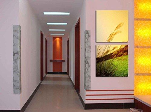 2 piezas Lona Paisaje Arte Contemporaneo Pintura Dividir lienzo Imagen del arte de la pared ilustraciones lienzo, Enmarcado, listo para colgar # 06-181