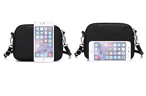 Handbag Phone Nylon Cell Shoulder Purses Wallet Crossbody Apricot Small Women For Bag Clutch Pouch Nodykka IwvpSS