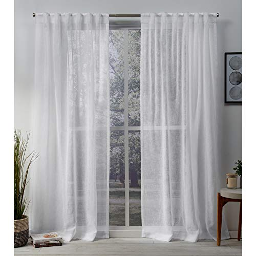 Exclusive Home Curtains Belgian HT Panel Pair, 50 x 108