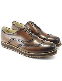 Sapato Oxford em Couro Masculino Solado Borracha Casual
