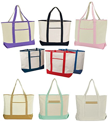 22 Open Top Heavy Duty Deluxe Tote Bag with Outer Pocket