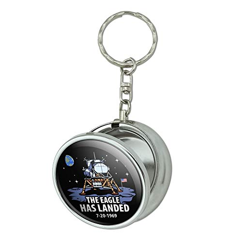 GRAPHICS & MORE NASA Apollo 11 The Eagle Has Landed Moon Landing Portable Travel Size Pocket Purse Ashtray Keychain with Cigarette Holder