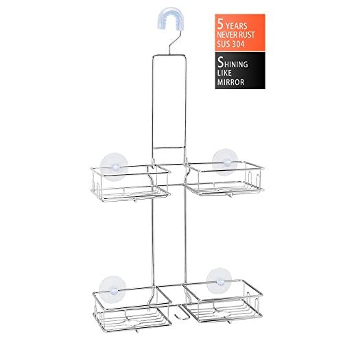 BRIOFOX Shower Caddy, Never Rust 304 Stainless Steel + Durable and ...