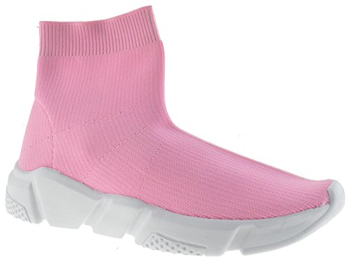 Forever Link Sock 12 Womens Elastic Fabric Knit Hightop Sneaker