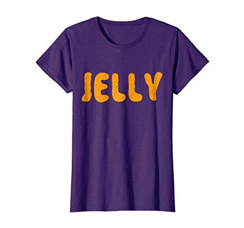 Womens Jelly T-Shirt Matching Halloween Costume XL Purple