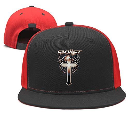 SPHAT Unisex Flat Trucker Mesh Hat Baseball Cap - Hat Band Skillet