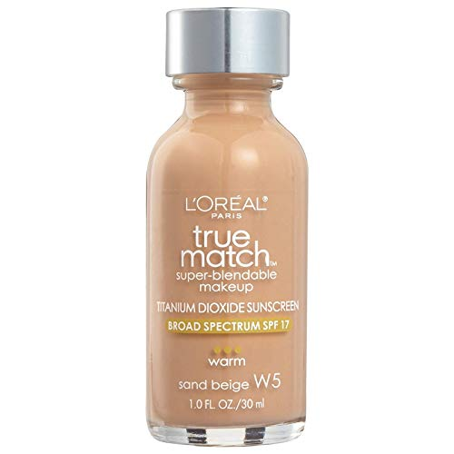 L'Oreal True Match Super Blendable Makeup, Sand Beige [W5], 1 oz (Pack of 2)