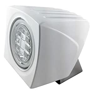 "''Lumitec"" Cayman Superwhite Flood Light - White Finish - Super White Dimming"