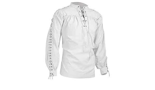 K-Youth Camisa Vintage Étnica de Manga Larga para Hombre Camiseta Hombre Carnaval Navidad Camisas Hombres Tallas Grandes Slim Fit T Shirt Top Ropa Adolescentes Chico Blusa: Amazon.es: Ropa y accesorios