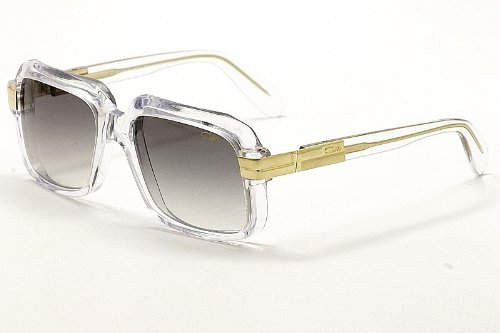 Cazal 607-065 SG Square Sunglasses,Crystal Frame/Grey Gradient Lens,56 mm ()