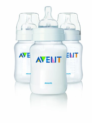 Philips AVENT 9 Ounce BPA Free Classic Polypropylene Bottles, 5-Pack, Baby & Kids Zone
