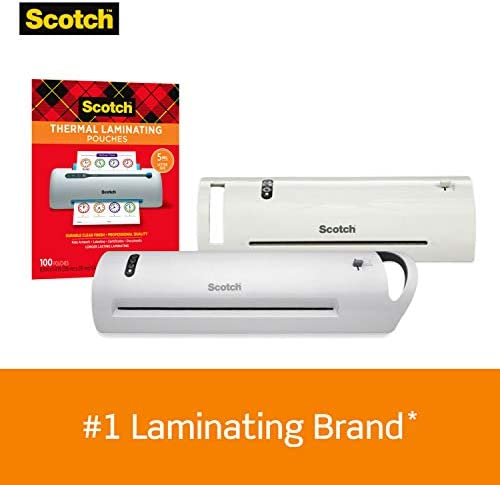 Scotch Thermal Laminator, 2 Roller System for a Professional Finish, Use for Home, Office or School, Suitable to be used with Photos (TL901X)