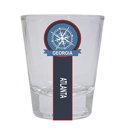 Atlanta Georgia Nautical Souvenir Round Shot Glass (Atlanta Imports)