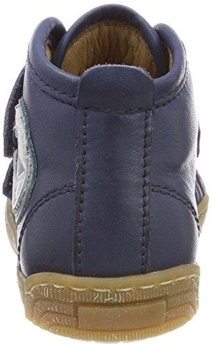 Bisgaard Unisex-Kinder Klettschuhe Hohe Sneaker Blau (Navy)