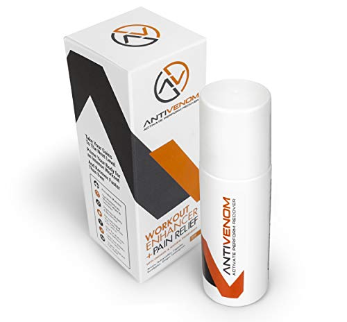 (AntiVenom Natural Anti Inflammatory Pain Relief Roll On Gel - Extra Strength Pre Workout Muscle Recovery Formula | Astaxanthin, Arnica & Organic Oils for Inflammation, Arthritis, Lower Back Pain &More)