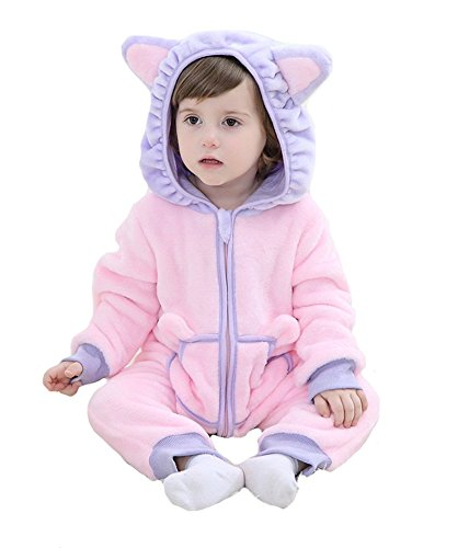 Tonwhar Unisex-baby Animal Onesie Costume Cartoon Pajama Homewear (90(Height:29