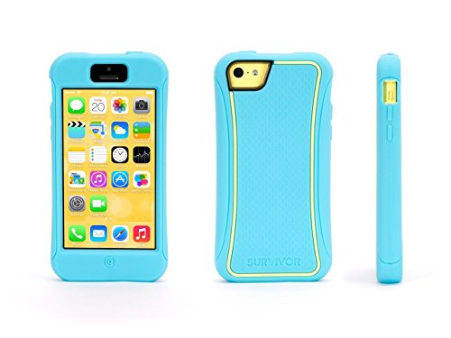 Griffin Survivor Slim Case for iPhone 5c - Retail Packaging - Turquoise