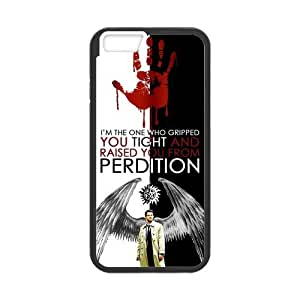 Popular TV Series Supernatural Unique Castiel Protective Cover Case for iPhone 6 4.7 by Maris's Diary