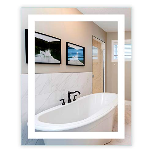 LED Front-Lighted Bathroom Vanity Mirror: 32