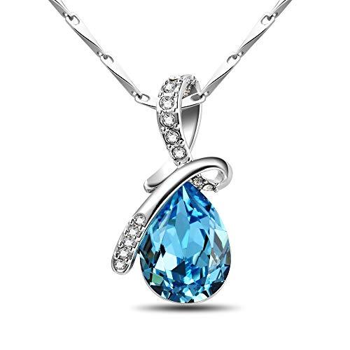 crystal teardrop pendant necklace - 5