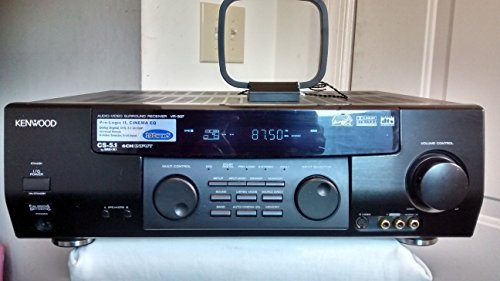 (Kenwood VR-507 5.1 Channel Digital Audio Home Theater AM/FM Stereo Surround Receiver. Dolby Digital, dts, Cinema EQ, 100W x 5, 6-Ch Input, Energy Star Rated Unit)