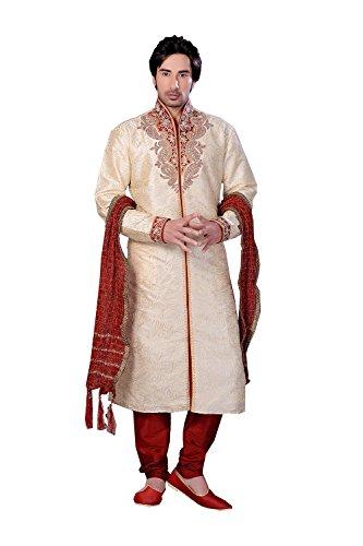 daindiashop-USA Indian Kurta Pajama For Men Wedding Partywear Christmas Festival Reception Sangeet Dress by daindiashop-USA